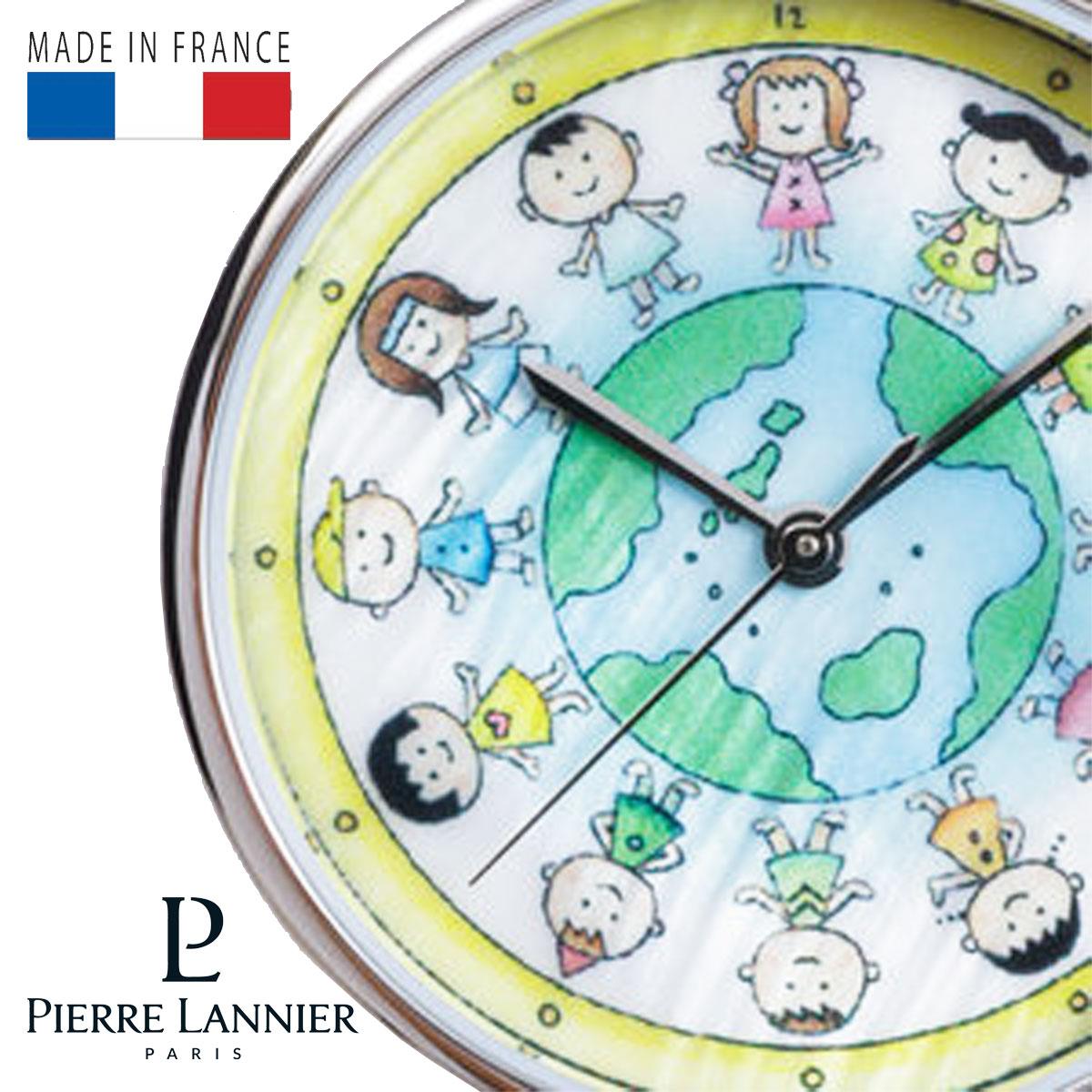 ピエールラニエ さくらももこコラボウォッチ ちびまる子ちゃん著者 レディース 腕時計 丸型 P479A690 地球の子供たち P480A690 干支 えと