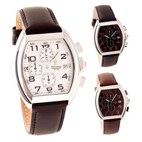 ピエールラニエ クロノグラフウォッチP016Hモデル レディース腕時計 樽型 P016H133