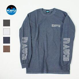 KAVU カブー / Sleeve Ptint L/S Tee スリーブプリント ロングスリーブTシャツ (19821310) (メンズ ロングTシャツ) (2020秋冬) (ネコポス配送商品)