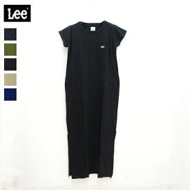 Lee リー/ CREWNECK DRESS クルーネックドレス (LT2544)(2019年春夏)Tシャツワンピ ロング丈 シンプルT (20%OFF)