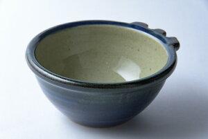 佐久間藤太郎窯 益子焼 呉須リボン付向付 食器 和食器 陶器 作家物