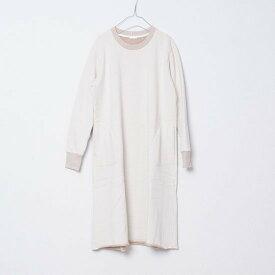 yohaku 余白 茶綿トレーナーワンピース キナリ D0019A