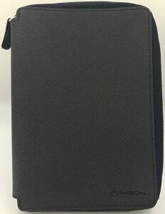 【訳あり20%オフ!!】コンパクトサイズ (バイブルサイズ) カラー・ノブレッサ2・バインダー ファスナーリング径20mm ネイビー(2052)