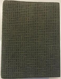 【訳あり30%オフ!】コンパクトサイズ(バイブルサイズ) メッシュエンボス・バインダーブラック リング径25mm(1067)
