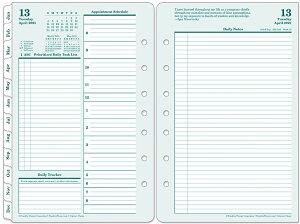 【公式】フランクリンプランナー クラシックサイズ(A5 サイズ 変形) 7穴 オリジナル・デイリー・リフィル (英語版) 1日2ページ 見開き 2021年4月始まり(12ヶ月) 手帳 システム手帳 スケジ