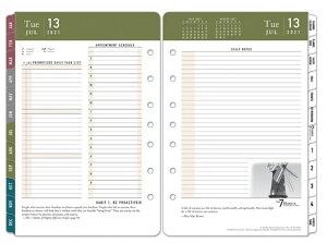 【公式】クラシックサイズ (A5変形) 7穴 「7つの習慣」デイリー・リフィル (1日2ページ)英語版 2021年7月始まり(12ヶ月版) フランクリン・プランナー 手帳 システム手帳 スケジュール帳