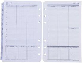 【公式】フランクリン・プランナー コンパクトサイズ(バイブルサイズ 幅広) 6穴 ユニバーサル・ウィークリー・リフィル(1週間2ページ)2021年1月始まり4月始まり兼用(15ヶ月版)手帳 システム手帳 スケジュール帳