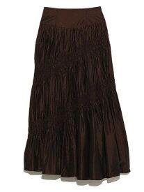 [Rakuten Fashion]【SALE/45%OFF】シャーリングタフタスカート FRAY I.D フレイ アイディー スカート ロングスカート ブラウン ブルー【RBA_E】【送料無料】