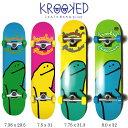 スケートボード KROOKED クルキッド TEAM SHMOO コンプリートセット skateboard complete スケボー 完成品 初心者あす…