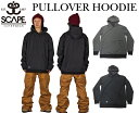 2016/2017【SCAPE】エスケープ<PULLOVER HOODIE>スノーボードウェア 撥水パーカー16-17