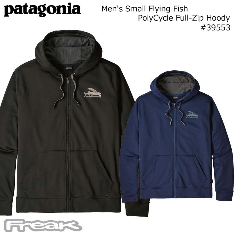パタゴニア PATAGONIA メンズ スウェット 39553<Men\u0027s Small Flying Fish PolyCycle Full,Zip  Hoody メンズ