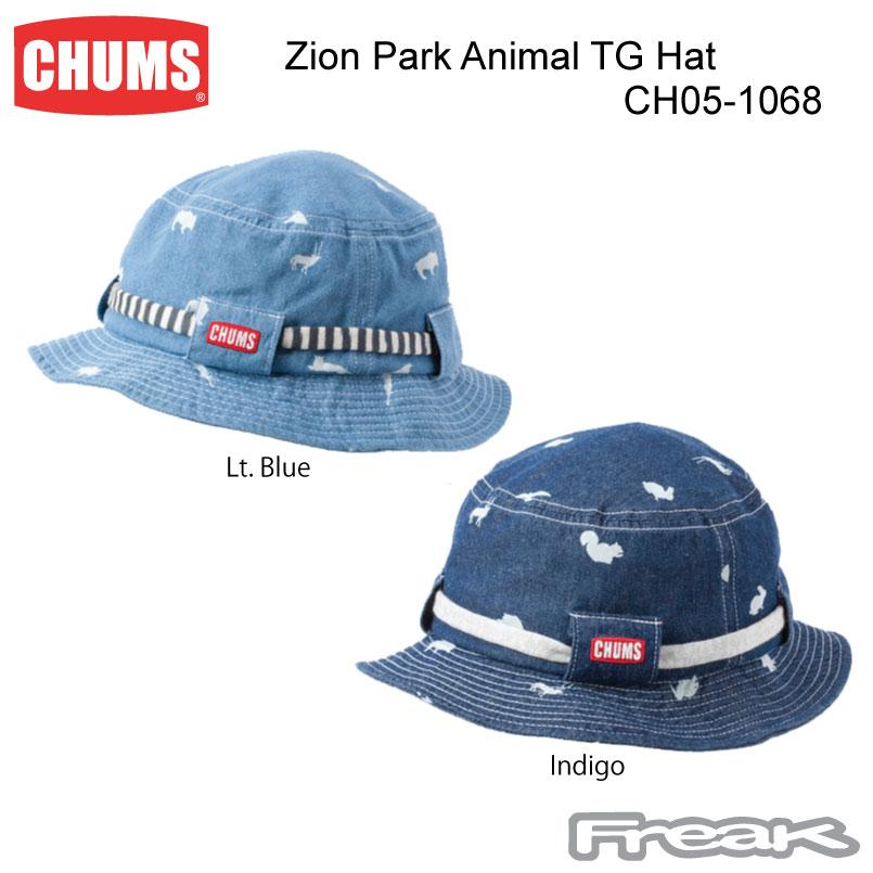 CHUMS チャムス 帽子 CH05-1068<Zion Park Animal TG Hat ザイオンパークアニマルTGハット>※取り寄せ品