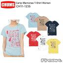 『200円OFFクーポン』配布中☆CHUMS チャムス CH11-1235<Camp Memories T-Shirt Women's キャンプメモリーズTシャツ …