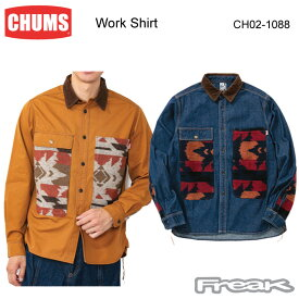 CHUMS チャムス CH02-1088<Work Shirt ワークシャツ(トップス/シャツ)> ※取り寄せ品