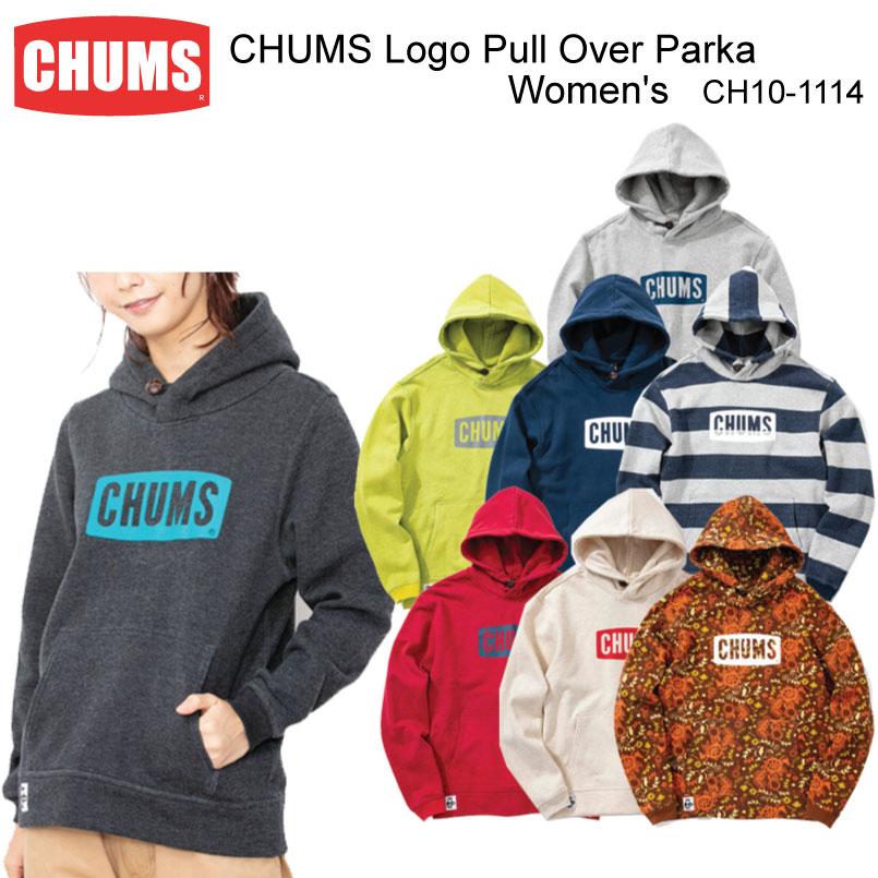 数量限定【200円クーポン】配布中!!CHUMS チャムス CH10-1114<CHUMS Logo Pull Over Parka Women's チャムスロゴプルオーバーパーカー>※取り寄せ品