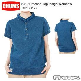 CHUMS チャムス CH10-1129<S/S Hurricane Top Indigo Women's 半袖ハリケーントップインディゴ(トップス/スウェット)>※取り寄せ品