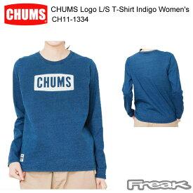 CHUMS チャムス CH11-1334<CHUMS Logo L/S T-Shirt Indigo Women's チャムスロゴ長袖Tシャツインディゴ>※取り寄せ品