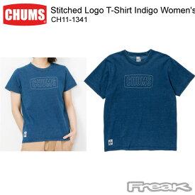 CHUMS チャムス CH11-1341<Stitched Logo T-Shirt Indigo Women's ステッチドロゴTシャツインディゴ(Tシャツ)>※取り寄せ品