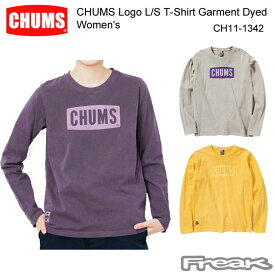 CHUMS チャムス CH11-1342<CHUMS Logo L/S T-Shirt Garment Dyed Women's チャムスロゴ長袖Tシャツガーメントダイ(トップス/カットソー)>※取り寄せ品