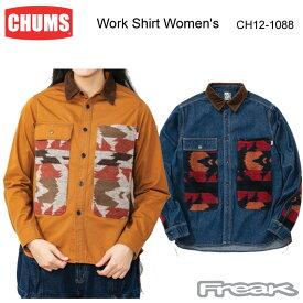 CHUMS チャムス レディース トップス CH12-1088<Work Shirt Women's ワークシャツ(トップス/シャツ)> ※取り寄せ品