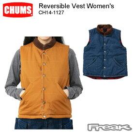 CHUMS チャムス レディース ジャケット CH14-1127<Reversible Vest Women's リバーシブルベスト(アウター/ベスト)>※取り寄せ品