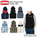 CHUMS チャムス メンズ ジャケット CH04-1168<Elmo Fleece Vest エルモフリースベスト(アウター/フリース)>※取り…