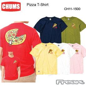 CHUMS チャムス レディース Tシャツ CH11-1500<Pizza T-Shirt ピザTシャツ >※取り寄せ品