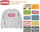 【割引クーポン配布中】CHUMS チャムス CH00-0617<Boat Logo Crew Top ボートロゴクルートップ >※取り寄せ品