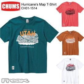 CHUMS チャムス メンズ Tシャツ CH01-1514<Hurricane's Map T-Shirt ハリケーンマップTシャツ>※取り寄せ品