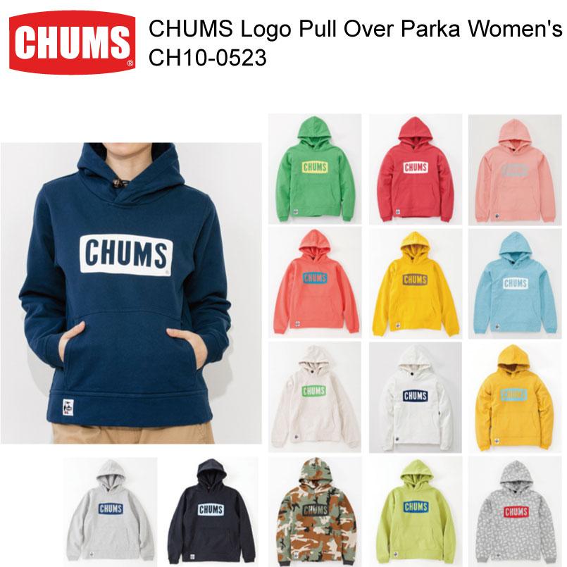 数量限定【200円クーポン】配布中!!CHUMS チャムス CH10-0523<CHUMS Logo Pull Over Parka Women's チャムスロゴプルオーバーパーカー女性用 >※取り寄せ品