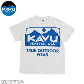KAVU カブー メンズ Tシャツ 半袖<BIG LOGO Tee ビッグロゴTee>XLサイズ メール便発送