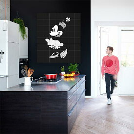 Minnie Mouse Black & White /Disney 壁を傷つけない 簡単取付 賃貸物件の模様替えにも ヨーロッパで大人気な 名画が楽しめます。