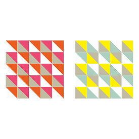 Loco Yellow & Pink small & large リバーシブル / IXXI ウォールピクチャーsize 20cm x 20cm (25cards)壁を傷つけない 簡単取付 賃貸物件の模様替えにも ヨーロッパで大人気な 名画が楽しめます。