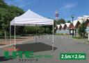 イベント用テント 本格イベント集会用テント かんたん設営ワンタッチ式テント 2.5m×2.5mフリーライズ 6色 LITEシリーズ【送料無料】…
