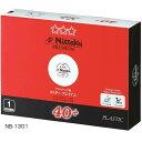 ニッタク Nittaku 卓球 ボール ピン球 ホワイト 40mm 硬式40ミリ 公認球 試合球 スリースター プラ3スタープレミアム …