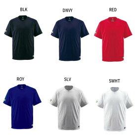デサント DESCENTE ジュニア キッズ ベースボールシャツ Vネック 野球ウェア トップス 半袖 JDB-202