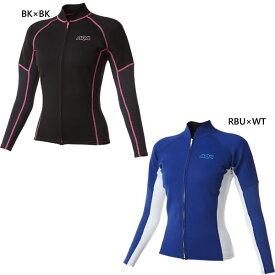 アクア aqa レディース UVウエットトップジップ マリンスポーツ アウトドア スノーケリング サーフィン KW-4617