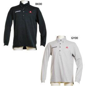 ルコックゴルフ le coq sportif GOLF メンズ ポロシャツ ゴルフウェア トップス 長袖 ロゴ QGMOJB14BE
