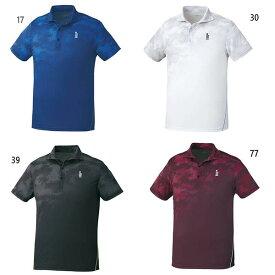 ゴーセン GOSEN メンズ レディース ゲームシャツ テニス バドミントンウェア トップス 半袖 超速乾 軽量 肌ドライ T1910