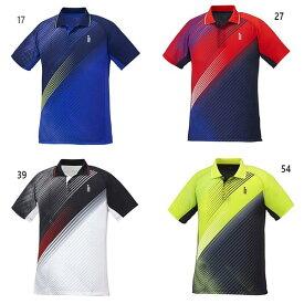 ゴーセン GOSEN メンズ レディース ゲームシャツ テニス バドミントンウェア トップス 半袖ポロシャツ T1940