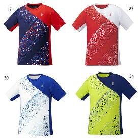 ゴーセン GOSEN メンズ レディース ゲームシャツ テニス バドミントンウェア トップス 半袖Tシャツ T1942