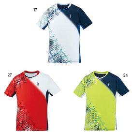 ゴーセン GOSEN メンズ レディース ゲームシャツ テニス バドミントンウェア トップス 半袖 吸汗速乾 T2002