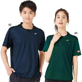 ニッタク Nittaku メンズ レディース スライプシャツ SRIPE SHIRT 卓球ウェア トップス 半袖Tシャツ 日本卓球協会公認 NW-2198