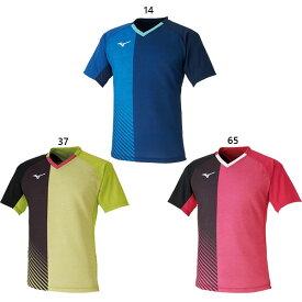 メンズ レディース ゲームシャツ 日本代表モデル 卓球ウェア トップス 半袖 ミズノ Mizuno 82JA0011