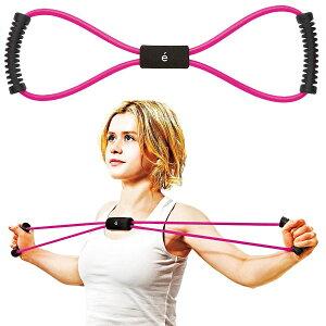 レディース erugam トレーニングチューブ 女性用 筋トレの時間だよ スタンダード スポーツ 全身運動 フィットネス エクササイズ 体幹 筋肉 サクライ貿易 SAKURAI 54149