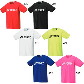 メンズ レディース ドライTシャツ テニス バドミントンウェア トップス 半袖 UVカット 吸汗速乾 制電 ヨネックス YONEX 16501