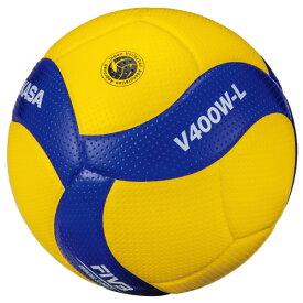 ジュニア キッズ 小学生 2020年度全日本バレーボール小学生大会公式試合球 V400W-L バレーボール 小学校用 4号軽量球 4号 検定球 ミカサ MIKASA V400WL