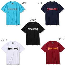 メンズ レディース Tシャツ スポルディングロゴ バスケットボールウェア トップス 半袖 吸水速乾 UVカット スポルディング SPALDING SMT201350