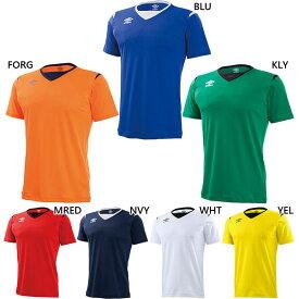 ジュニア キッズ JRゲームS/Sシャツ サッカーウェア フットサルウェア トップス 半袖 吸汗 速乾 アンブロ UMBRO UAS6700JB