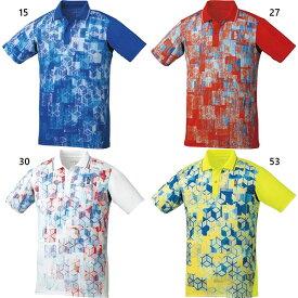 メンズ レディース ゲームシャツ テニス バドミントンウェア トップス 半袖ポロシャツ ゴーセン GOSEN T1800